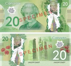 $20 Canadian dollars polymer banknote | #money #banknotes