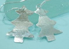 Ecosilver earrings, recycled silver by TawnyOwlDesigns a Brighton based Etsy seller.