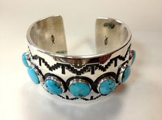 Sterling Silver with Turquoise Cuff Bracelet