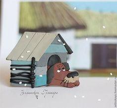 Жил-был пёс. Сувенирный магнит - коричневый,жил-был пес,герои мультфильмов