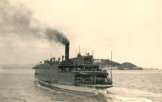 The Ferry Hayward crosses the San Francisco Bay on December 27, 1938. Ferry Hayward, named of the city, was launched in 1923 as one of the first turbo-electric ferries on the Bay and could carry 3,000 passengers and featured a restaurant on board. (Oakland Tribune Photo)