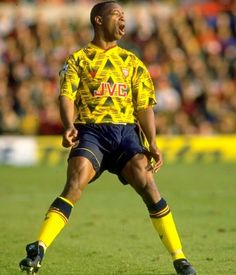 50ca00f17 Team: Arsenal Strip: Away Year: Manufacturer: Adidas Sponsor: JVC As worn by:  Ian Wright, Alan Smith, Paul Merson, Tony Adams The are the most  universally ...