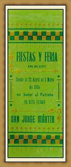 Cartel de fiestas de Alcoy del año 1905 Autor Anónimo
