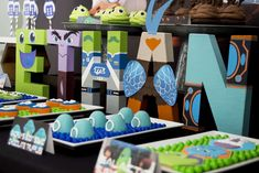 Amazing dessert table at a Miles from Tomorrowland birthday party! See more party ideas at CatchMyParty.com!