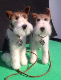 Needle Felted Wire haired Fox Terriers