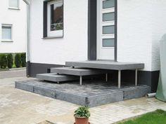 Betonpodest Aulico // Betonstufen // passgenaue Maße für Ihren Hauseingang (Garden Step Stairs)
