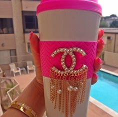 Chanel Bedazzled Coffee Mug <3