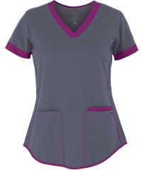 Contrast bands & piping give the Barco NrG 3159 3 Pocket Scrub Top a great sporty look. For a variety of Barco scrubs and Stretch scrubs, shop at UA. Scrubs Uniform, Scrubs Outfit, Scrubs Pattern, Top Pattern, Look Blazer, Medical Scrubs, Sporty Look, Scrub Tops, Work Wear