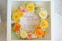 スワロの輝くブーケ・フレームアレンジ・・etcのデザイン日記 上品で大人可愛いウェディング プリザとアーティフィシャル