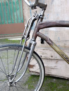 Homemade springer fork, Motobecane RatRodBike