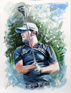 Brandon Grace... #golf #art