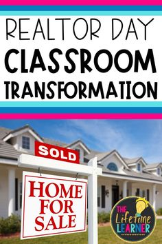 Check out this fun realtor classroom transformation theme for elementary students in first, second, third, fourth, fifth grade. This realtor or property agent room transformation will set the stage to engage and is stress-free! It's a worksheet or escape room alternative, and can be used in small groups or partners. 1st, 2nd, 3rd, 4th, 5th graders enjoy classroom transformation ideas. Digital and printables for kids (Year 1,2,3,4,5) #setthestagetoengage #classroomtransformation #mathactivities