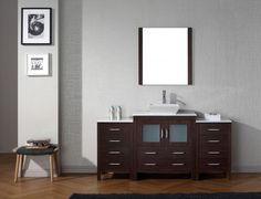 """Dior 68"""" Single Bathroom Vanity Set in Espresso"""