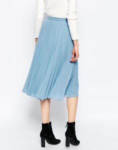Primark - Pink Chiffon Pleated Midi Skirt | Looks | Pinterest ...