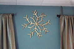 Snowflakes and Dragonflies: Craft Stick Snowflake