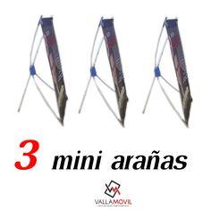 3 portapendón miniarañas + impresión a un buen precio. medidas: 29cm * 39cm #Arañas #Portapendon #Publicidad #Vallamovil