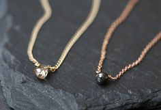Simple Diamond Briolette Necklace – Alexis Russell