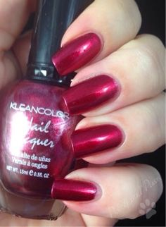Polish and Paws: Kleancolor ~ Metallic Red