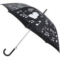 En #Navidad #Regala #Musica… Paraguas negro con motivos musicales blancos por 15.99€             #LaMusa ✨✨✨✨✨