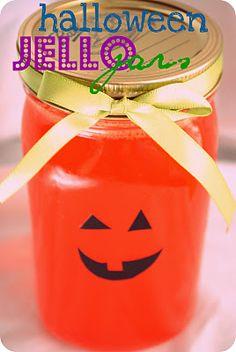 Halloween Jello Jars