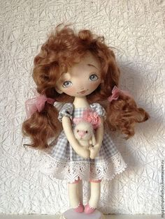 Коллекционные куклы ручной работы. Ярмарка Мастеров - ручная работа Интерьерная куколка Анечка. Handmade.♡