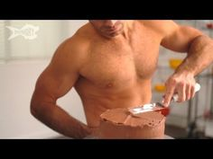 Well doesn't this man make icing a cake look well good. Haha