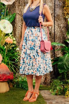 We love the whimsical design of this Giuliana Rancic skirt! It's the perfect ensemble for an afternoon tea party.