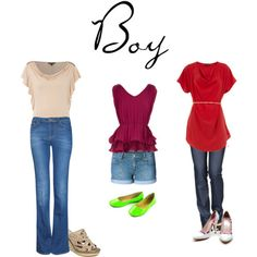 How To Wear Jeans if you have a boy shape... and all other shapes in this post.