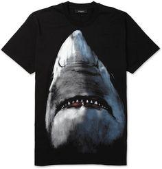 GIVENCHY SHARK PRINT COTTON JERSEY T-SHIRT