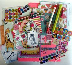 Custom Snail Mail Kit, pen pal starter set: writing paper, fun envelopes, stickers, pen, postcards, gift for teen, tween, geek girl by ALittleLemonadeStand on Etsy https://www.etsy.com/listing/204744125/custom-snail-mail-kit-pen-pal-starter