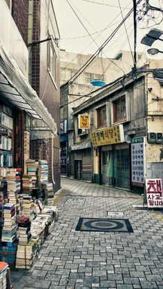 Busan in South Korea. Street for sale of new and used books. --Would soooo love to be there! Busan South Korea, South Korea Travel, Seoul Korea, Aesthetic Japan, City Aesthetic, Republik Korea, Timor Oriental, Places To Travel, Places To Visit