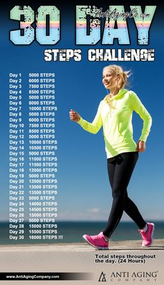 Workout Challenge How To Change Your Life Within A Month Using The Steps Challenge! - The main aim of the Steps Challenge is to get you walking at least steps per day which is the recommended steps experts claim is the key to good health. Power Walking, Walking Plan, Walking Program, Walking Training, Walking Exercise, Walking Challenge, Workout Challenge, Thigh Challenge, Plank Challenge