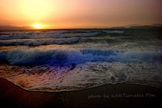 Sunset on the Beach. KALAMIA Corinth KORINTHOS Hellas (Greece)  Photo by Kartson  MY blogs : http://petra.pblogs.gr and http://kartson.pblogs.gr