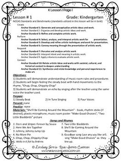 Great Idea For Music Lesson Plan Template Typical Classroom
