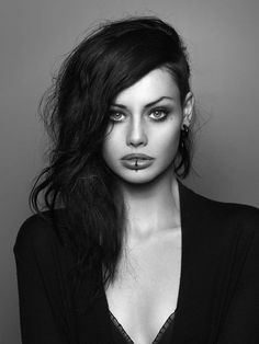 Hair and Makeup. Model- Alice Kelson Photography - Peter Coulson...reminds me how much I want my lip pierced!