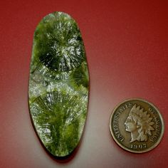 Wavellite Stellate Crystal Hand Cut Cabochon  from Arkansas, free U.S. shipping