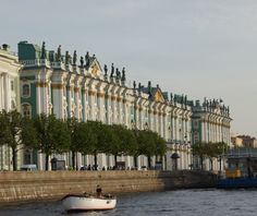 St. Petersburg, Russia  - The Hermitage from the canal (photo by Peggy Mooney)