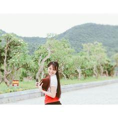 #girl #truclinhnguyenhoang #smile #redgirl #beautifulplace #ninhbinhprovince