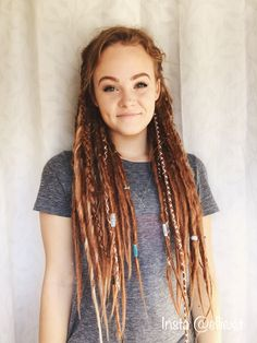 hippie makeup 359795457731133945 - Luxury Hippie Hairstyles Cute Hippie Hairstyles Coiffure Hippie Fantastique Coiffure Mariee within ucwords] Source by ymfktb Dreadlocks Girl, Synthetic Dreadlocks, Wool Dreads, Red Dreads, Dreads Women, Hippie Dreads, Dreads Styles, Curly Hair Styles, Hippie Hair Styles