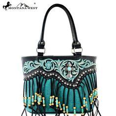 Montana West Spiritual Collection Indian Bead Fringe Bag