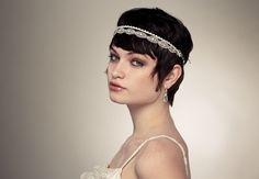 Penteados para noivas com cabelo curto. #casamento #noiva #cabelo #acessórios