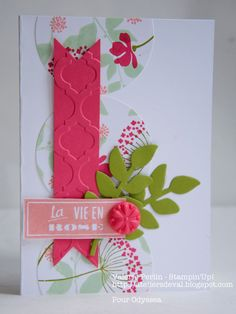 great idea - put a small piece of cardstock through the embossing machine and use for part of the design