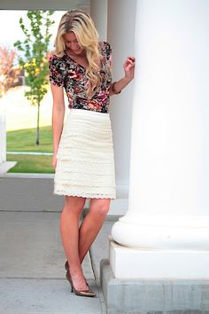 Lace Skirt by Elle Apparel @Tara Harmon Warden, maybe this should be my first women's clothing project?
