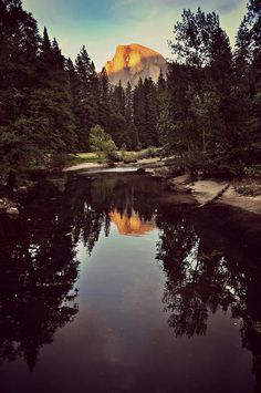 Sunset on Half Dome, Yosemite National Park, California