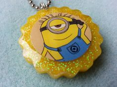 Despicable Me Minion Resin Charm by qtsyresin on Etsy, $5.00