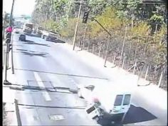 Motorcycle Crashes After Car Suddently Stops
