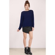 TOBI Exposed Back Sweater - Navy Work once. Still in excellent condition with no holes or loose stitching. This sweater is a size S/M. Tobi Tops