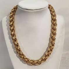 0n sale now $24.99   Vintage Signed Napier Heavy Gold Tone 13mm Link Chain Necklace Costume Jewelry by JewelryGeeks on Etsy https://www.etsy.com/listing/258683170/vintage-signed-napier-heavy-gold-tone