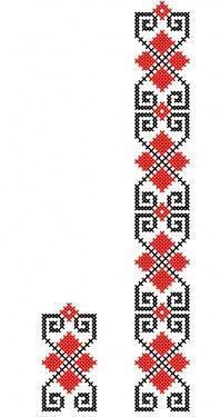programe de broderie, tip banda, pentru BROTHER, B Cross Stitch Bookmarks, Cross Stitch Borders, Cross Stitch Designs, Cross Stitching, Cross Stitch Patterns, Bead Loom Patterns, Crochet Stitches Patterns, Beading Patterns, Folk Embroidery
