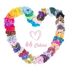 20 Mixed Size Thick Thin Hair Elastics Ponytail Bobbles Bands School Colours